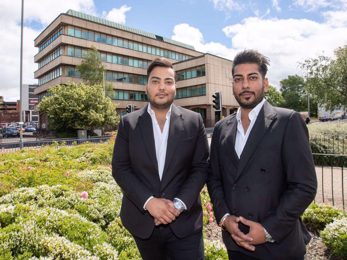 Brothers Ankush and Arjun Gupta, whose Gupta Group has bought Carillion House in Wolverhampton