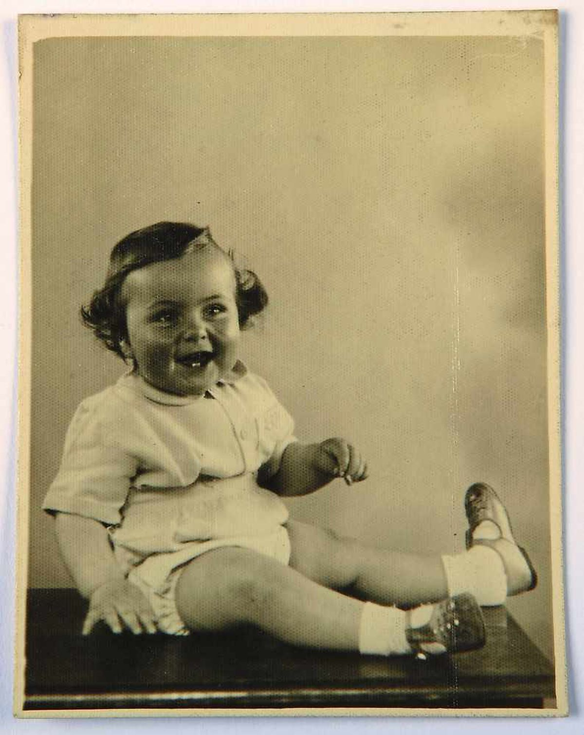 A very happy Eric as a baby