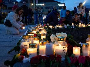 Tributes at the scene of the attack