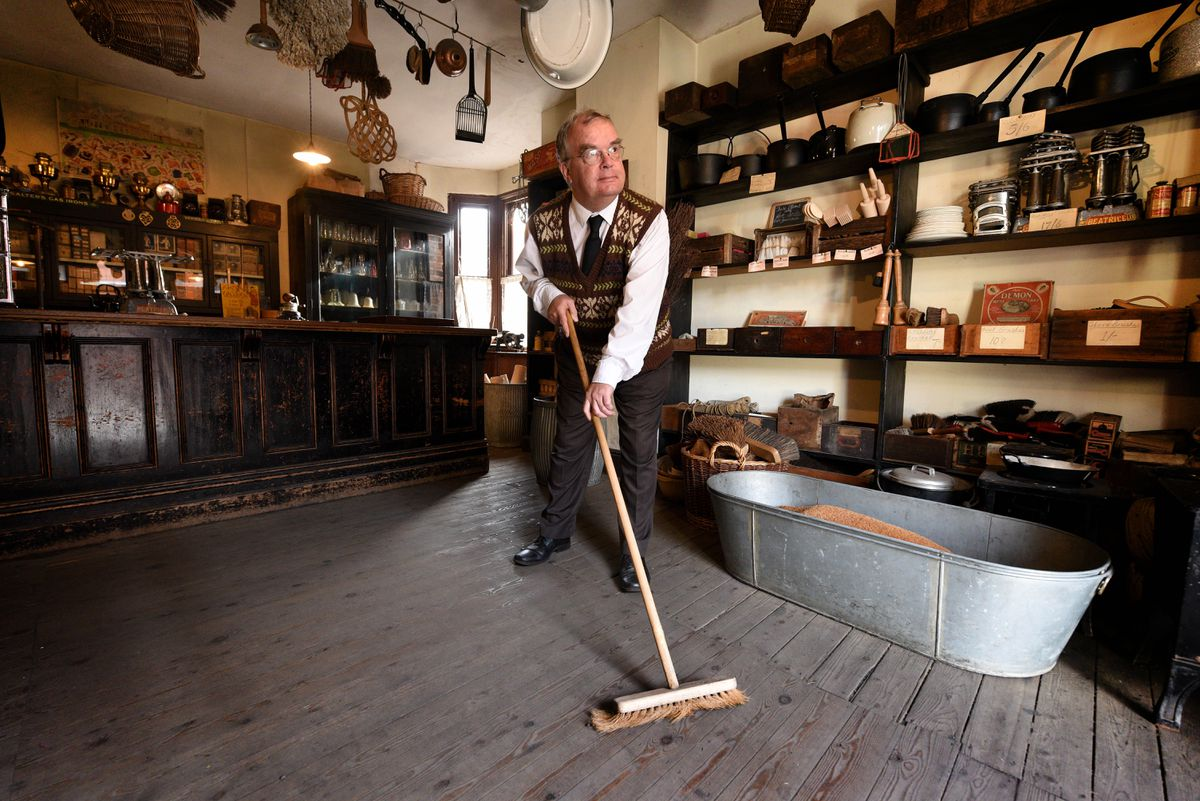Stephen Hobbins, from Tipton, who has been with the museum for 13 years, and runs the hardware store