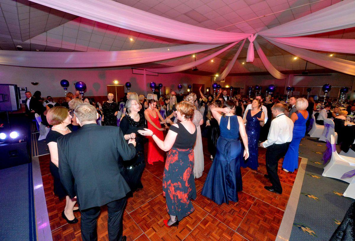 The packed dancefloor