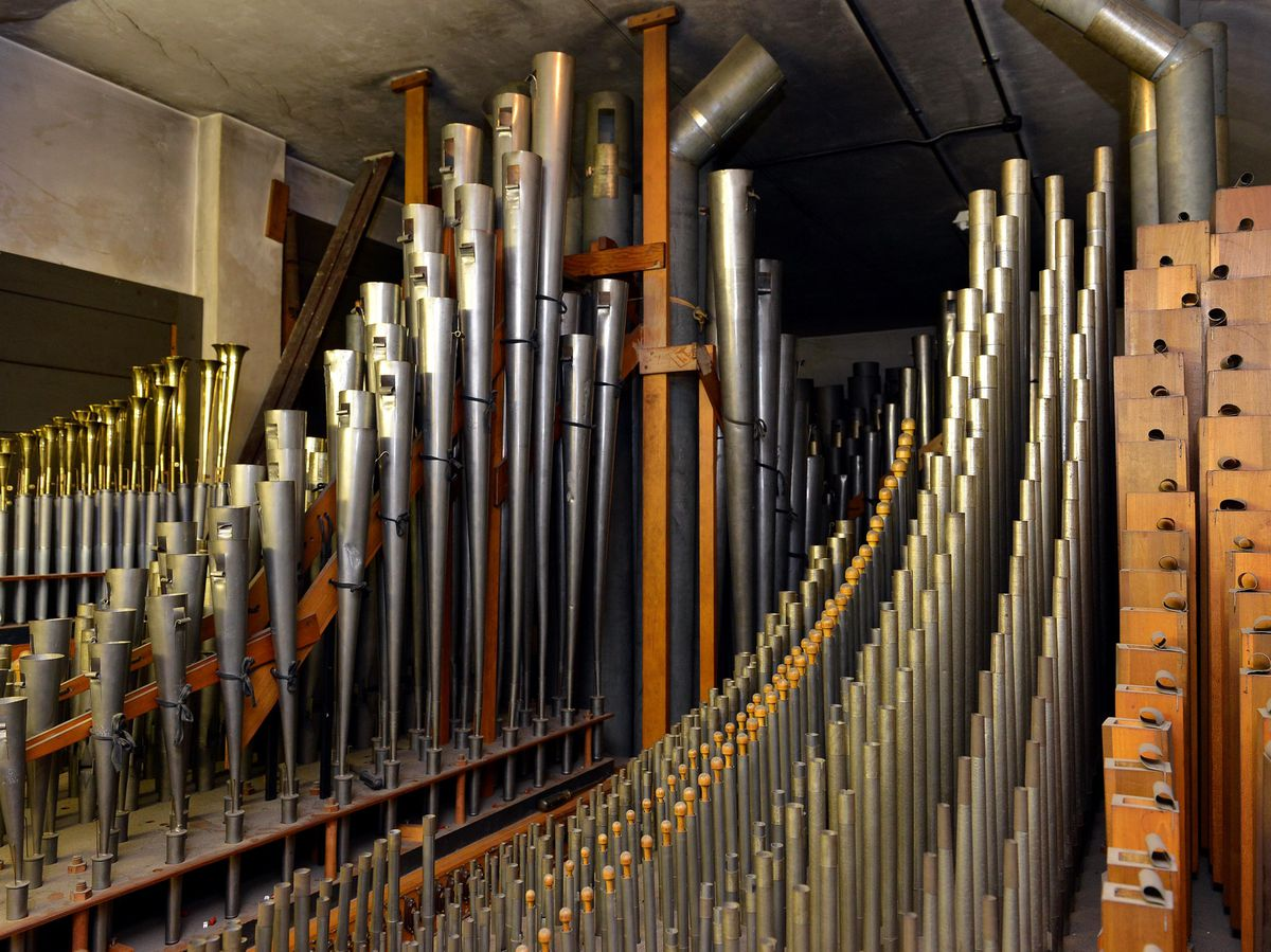 The organ's 6,241 pipes have been scrapped