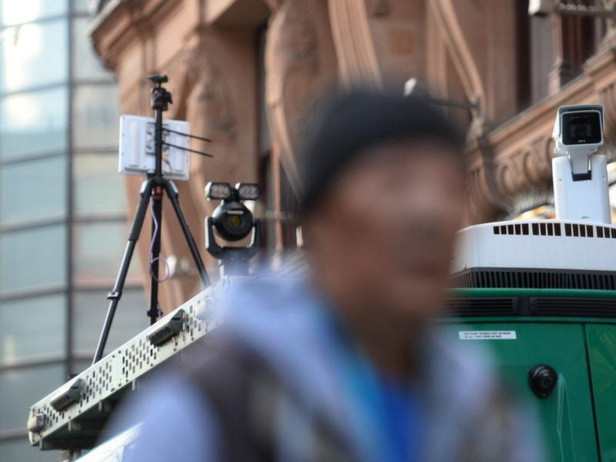 Facial recognition technology in use in London
