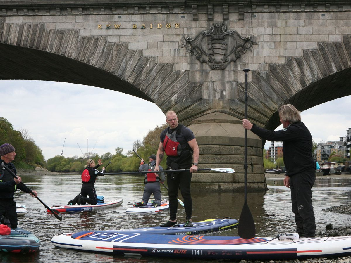 Charity stand up paddle board