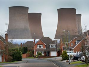 Rugeley power station cooling towers, viewed from Thorne Close