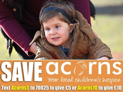 Acorns: Make a difference and help save vital children's hospice