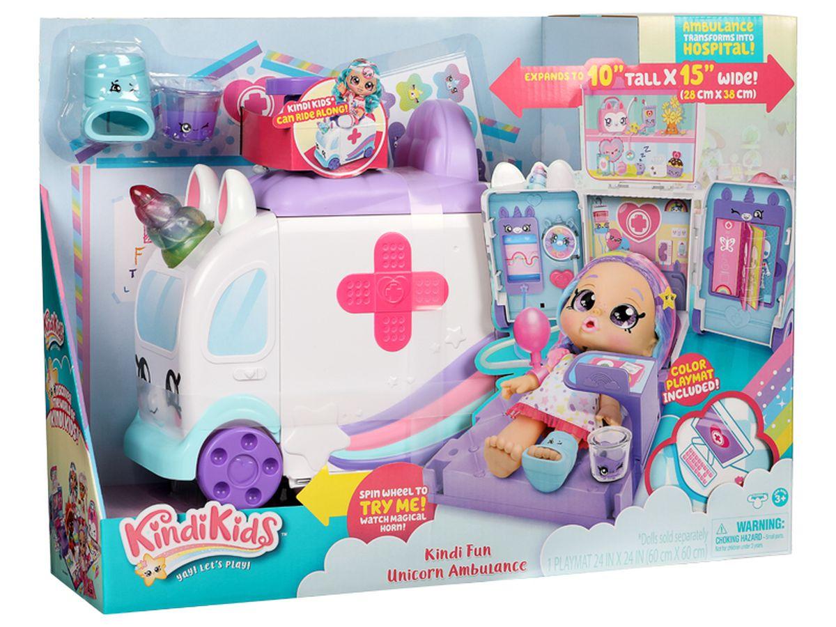 Kindi Kids Unicorn Ambulance Playset