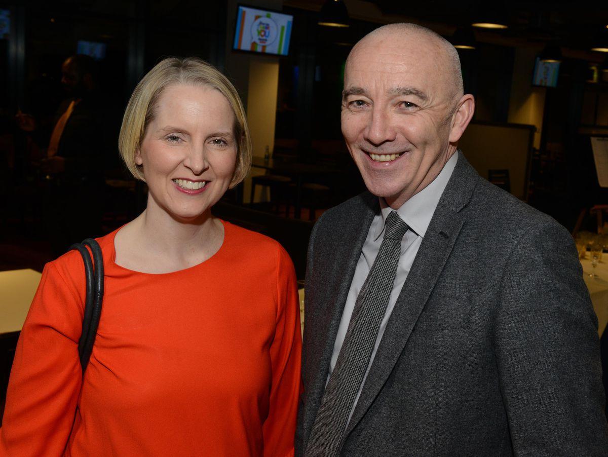 Emma Reynolds MP and Tim Johnson.