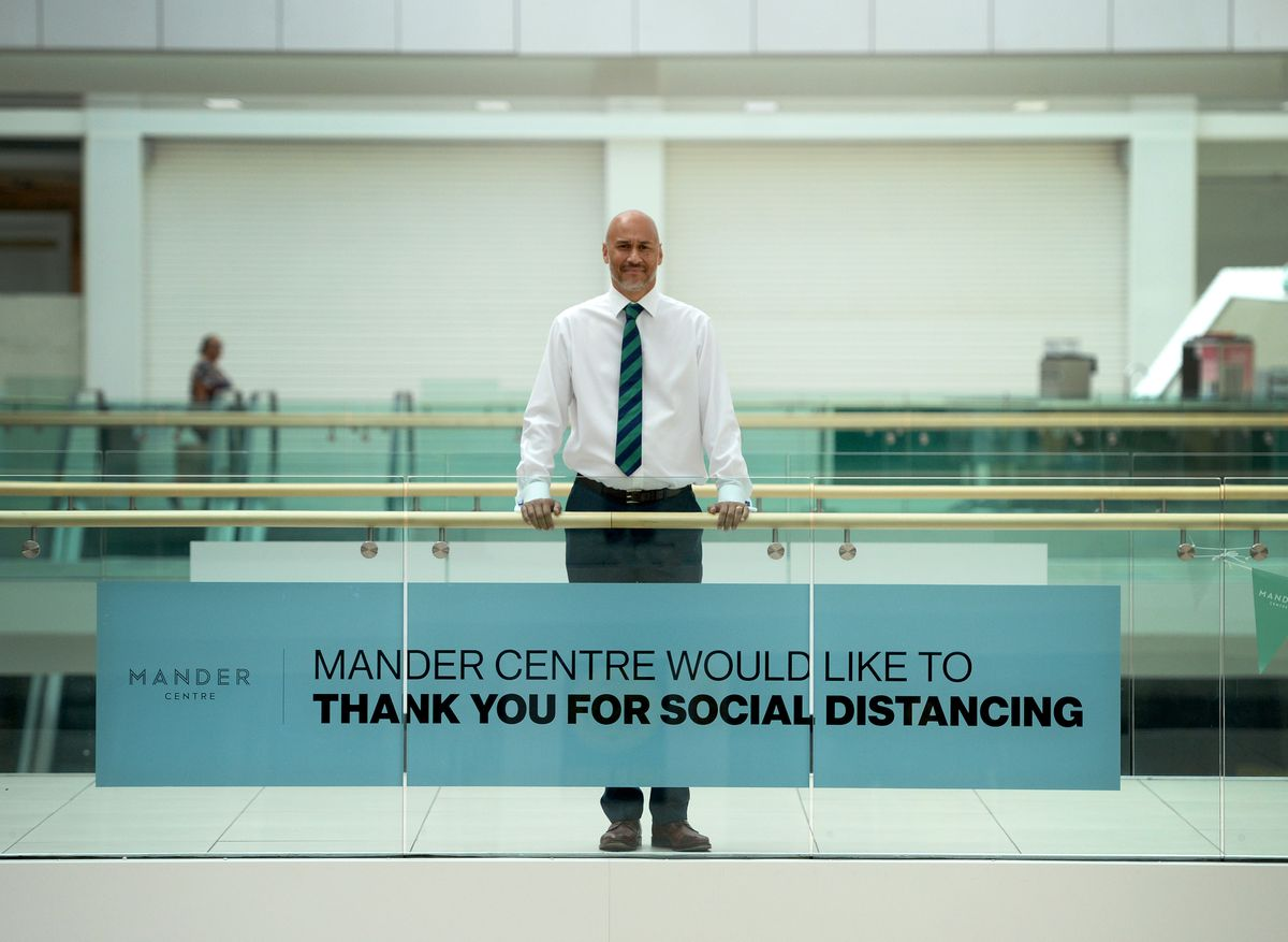 Mander Centre manager Richard Scharenguivel has pleased to welcome back shoppers