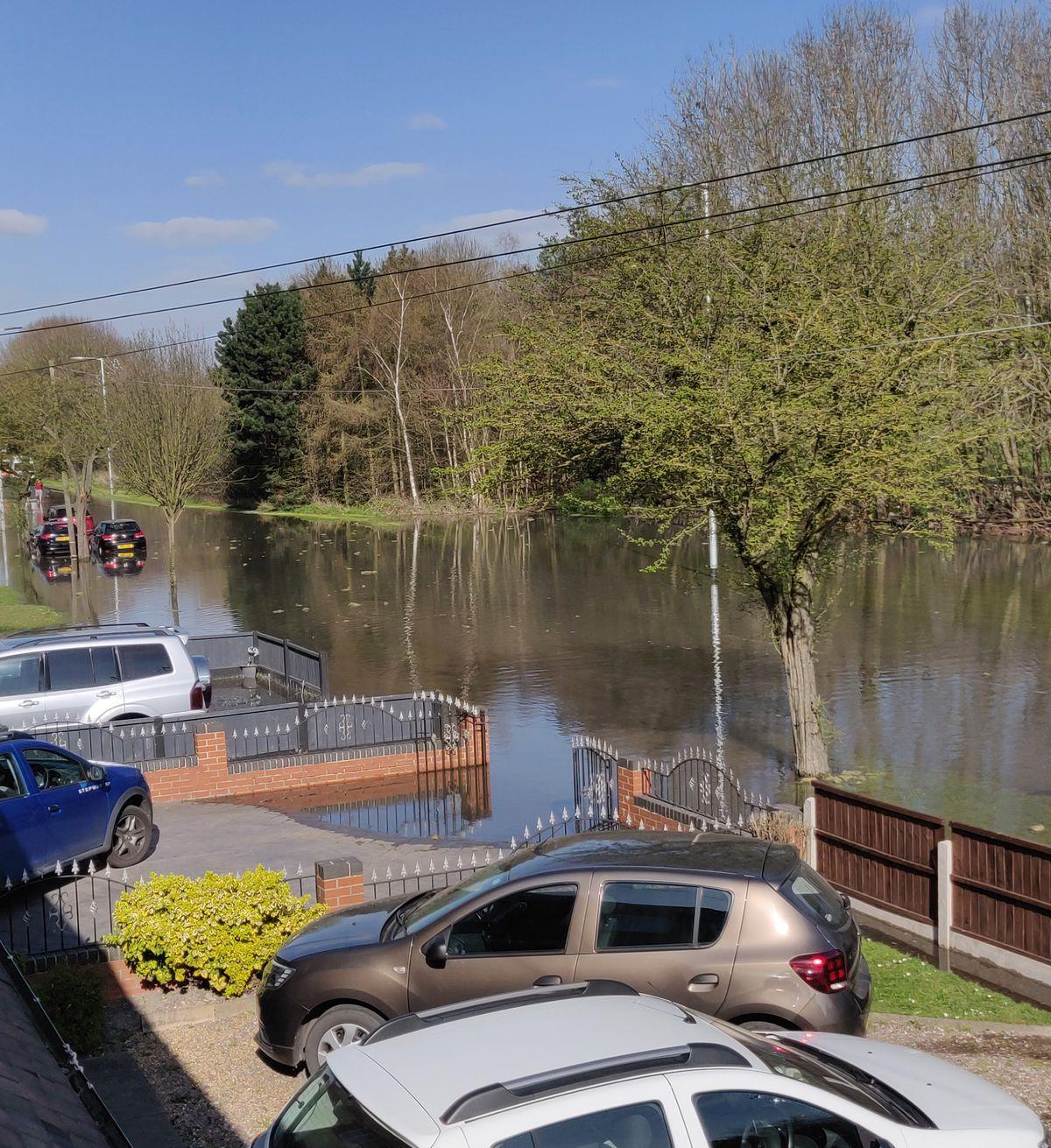 Flooding on Stowheath Lane after a water main burst. Photo: R Chandard