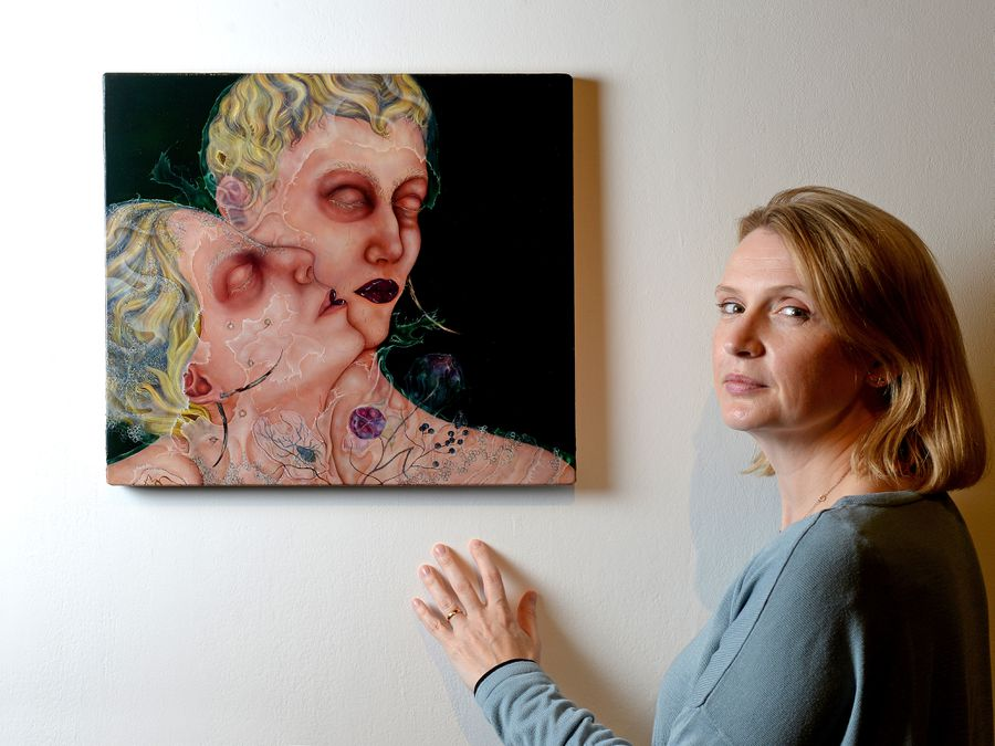 The New Art Gallery's exhibitions co-ordinator Hannah Anderson takes a closer look at one of Anj Smith's paintings, The Lover