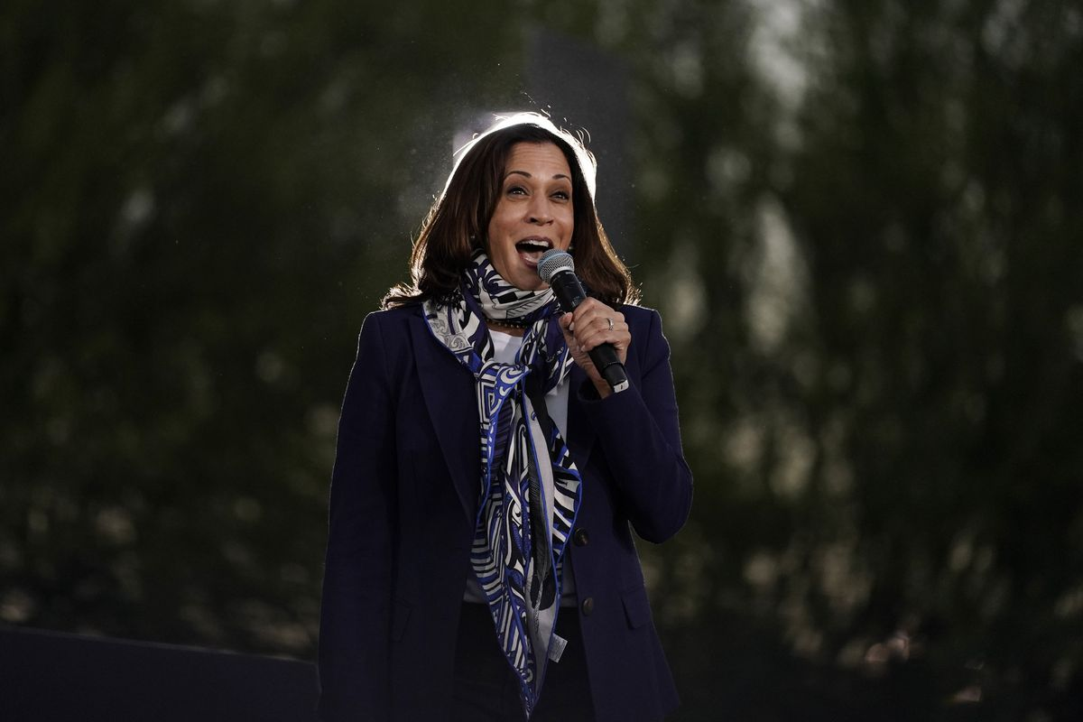 Democratic vice-presidential candidate Kamala Harris is popular among her party's supporters