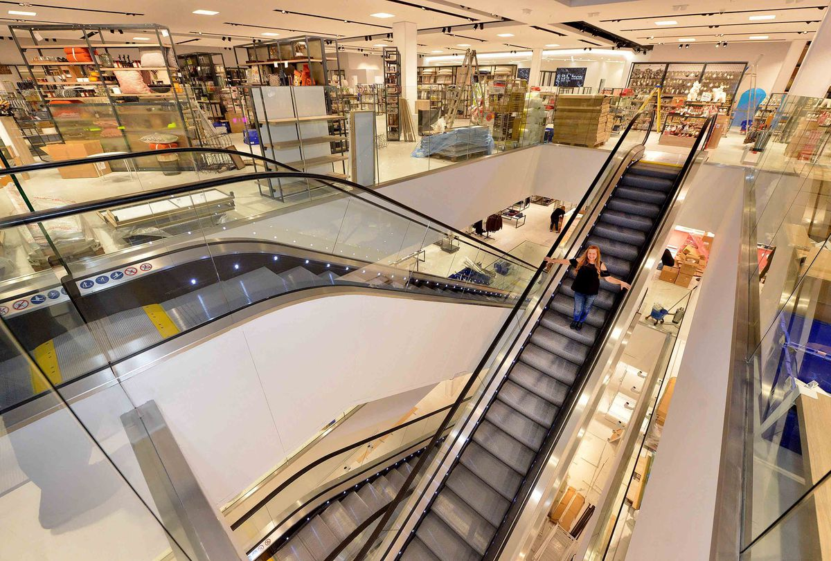 Inside the Debenhams store ahead of its opening in 2017