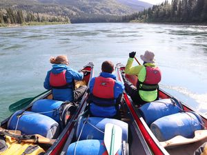 Students learning physical skills as part of the trek through Canada's Yukon Territory. Photo: James Blackledge