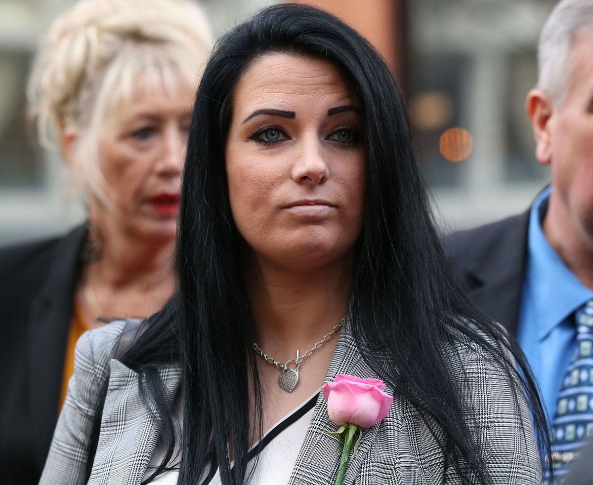 Gemma Andrews, sister of Natalie Connolly, outside Birmingham Crown Court