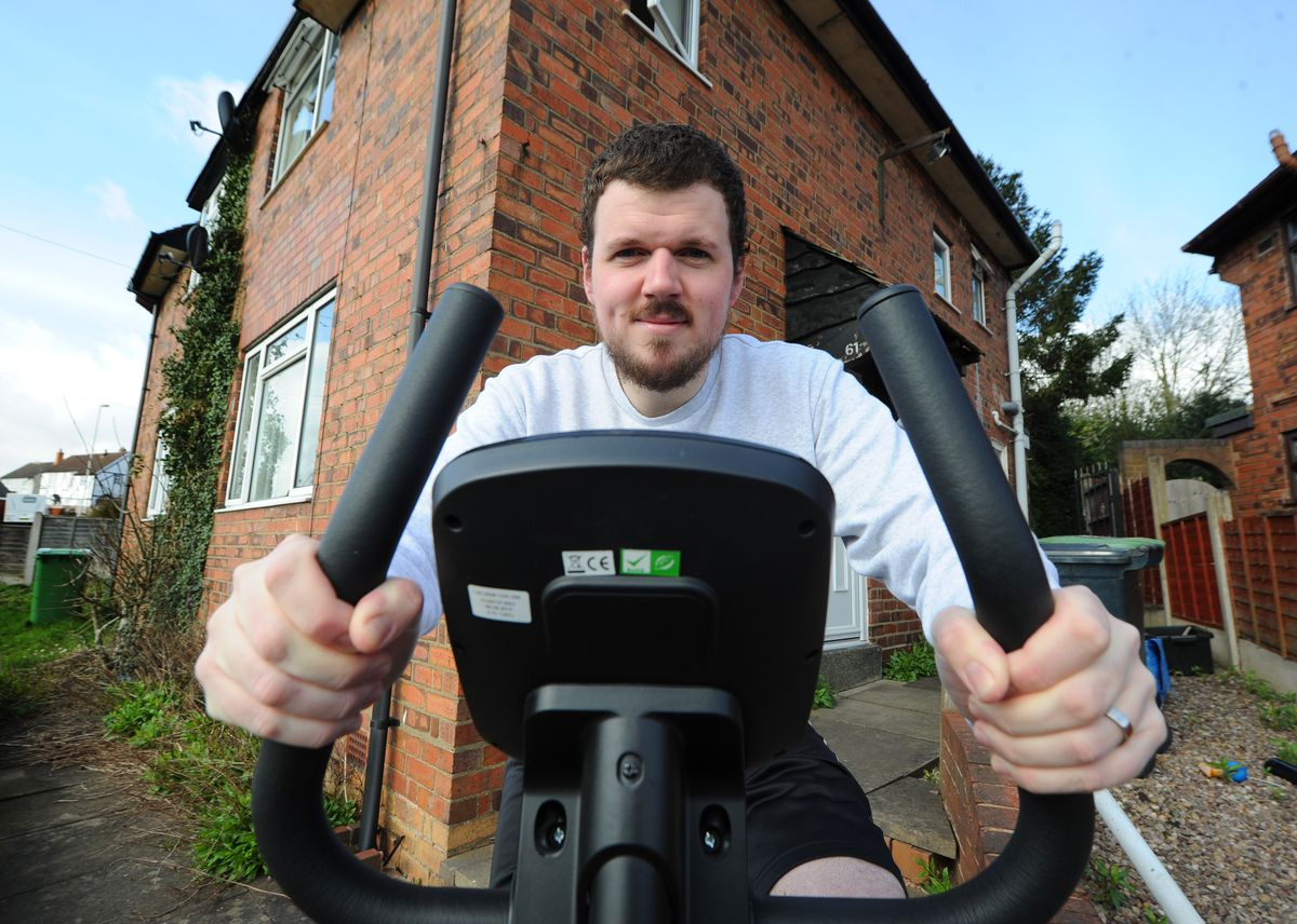 He's taking on the challenge of cycling 26 miles each day