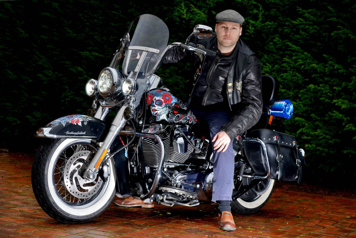 Paul Brothwood has won a competition for the custom artwork on his motorbike