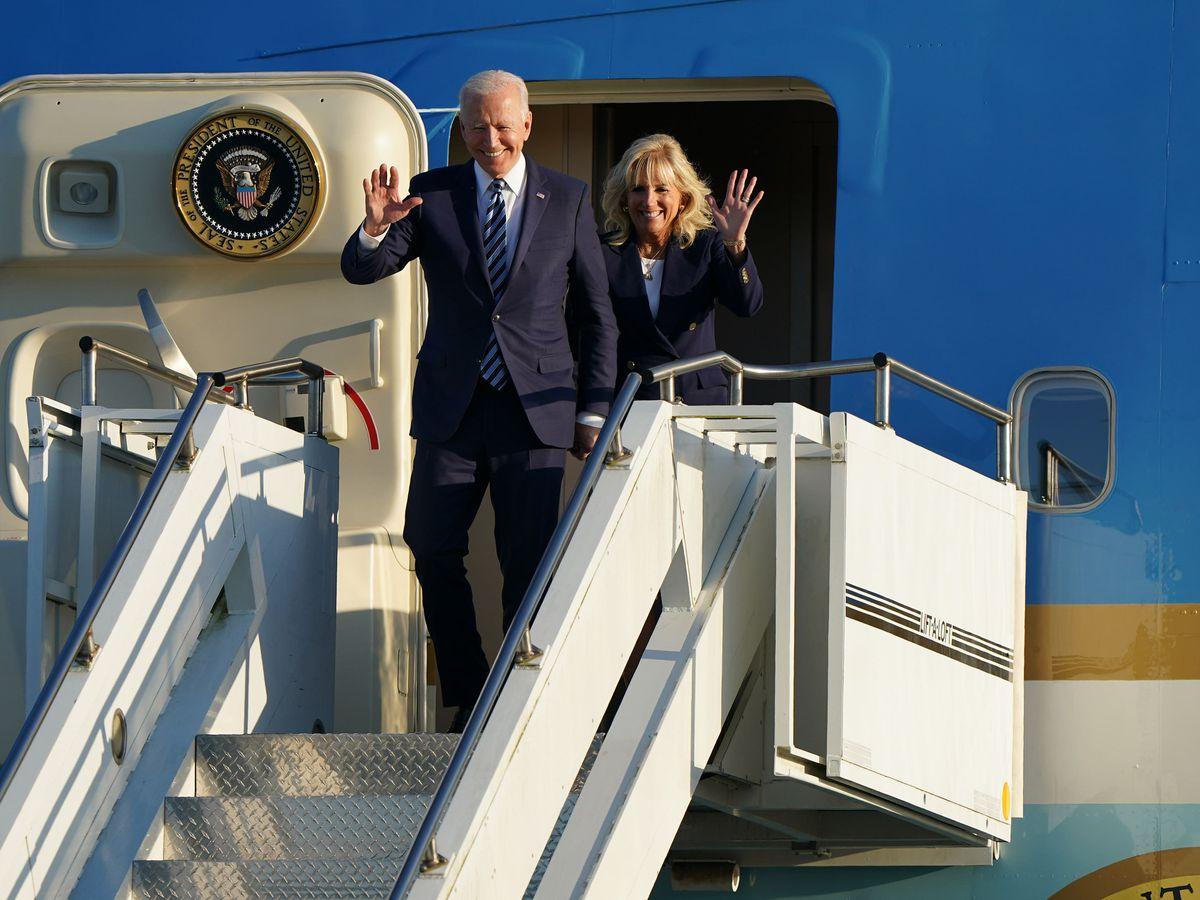 US President Joe Biden and First Lady Jill Biden