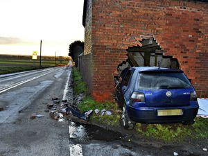 Just one of the accidents that have happened at the Upton Crossroads on the A464 near Shifnal