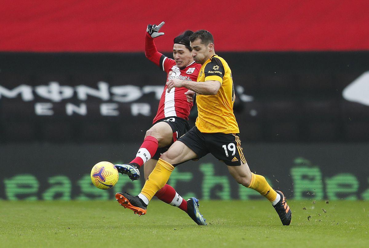 Southampton's Takumi Minamino and Wolverhampton Wanderers' Jonny Castro Otto