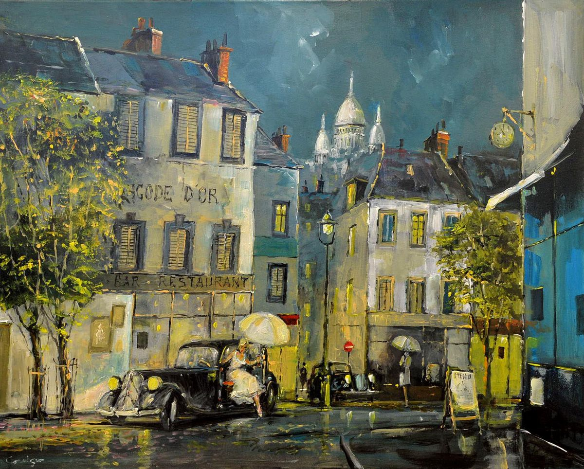 Cavan painted many French scenes over the past quarter of a century