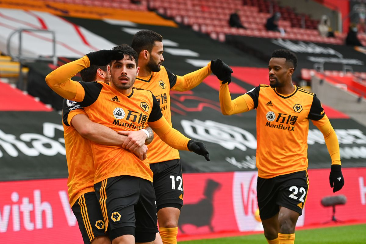 Pedro Neto of Wolverhampton Wanderers celebrates after scoring a goal to make it 1-2 (AMA)