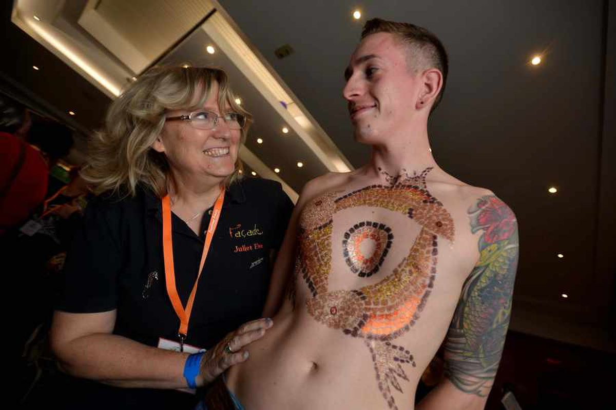 Simon Phillips from Telford and artist Juliet Eve