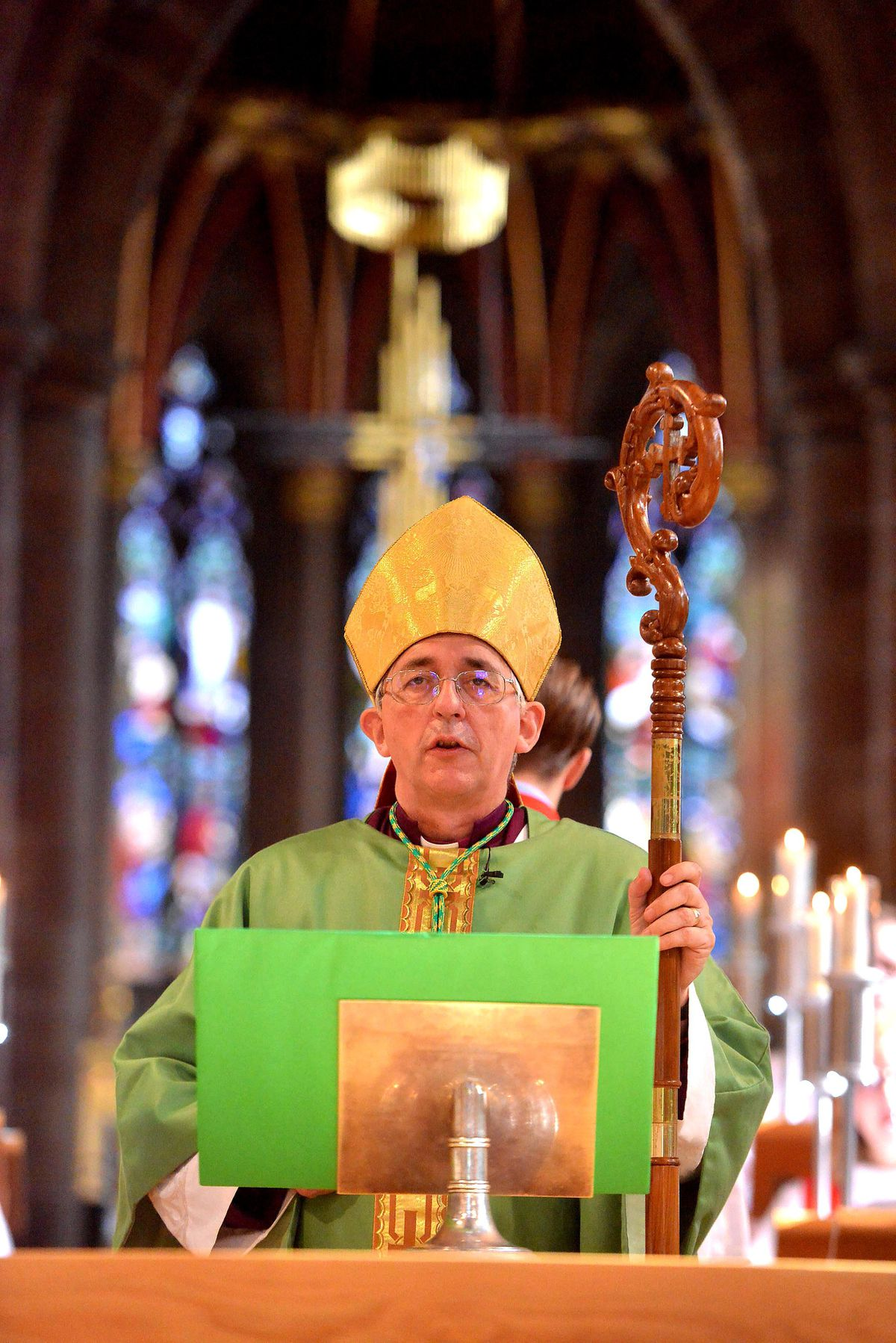 The Bishop of Lichfield Dr Michael Ipgrave reflected on the struggles of the last year and its relationship to Easter