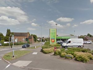 A Google Street View image of the Lichfield Road Asda in Cannock
