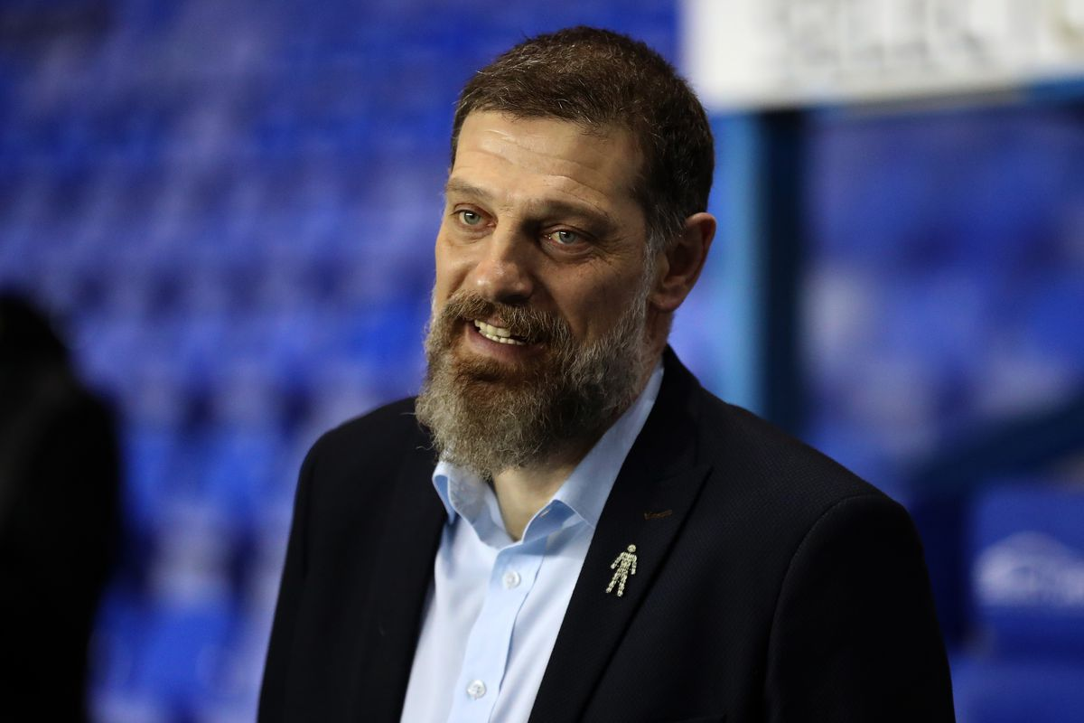 Slaven Bilic head coach / manager of West Bromwich Albion inspects the pitch after arriving at the stadium (AMA)