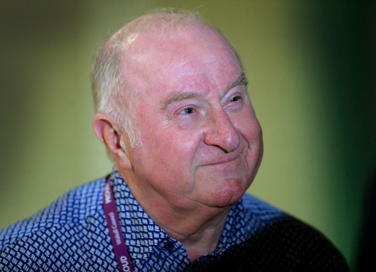 A happy Councillor Mike Bird