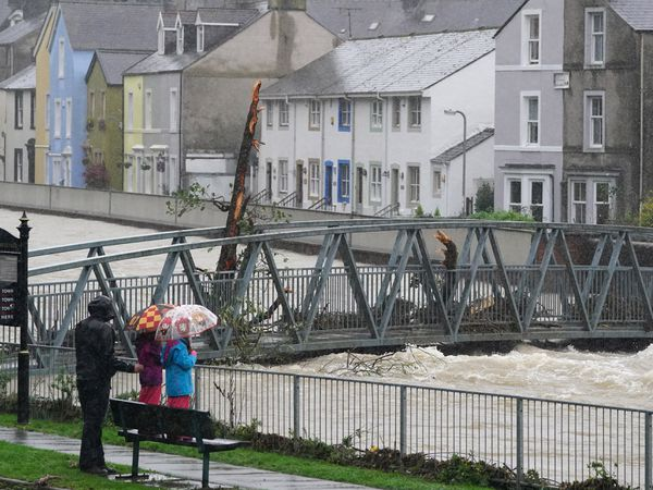 Residents watch rising water levels in Cockermouth