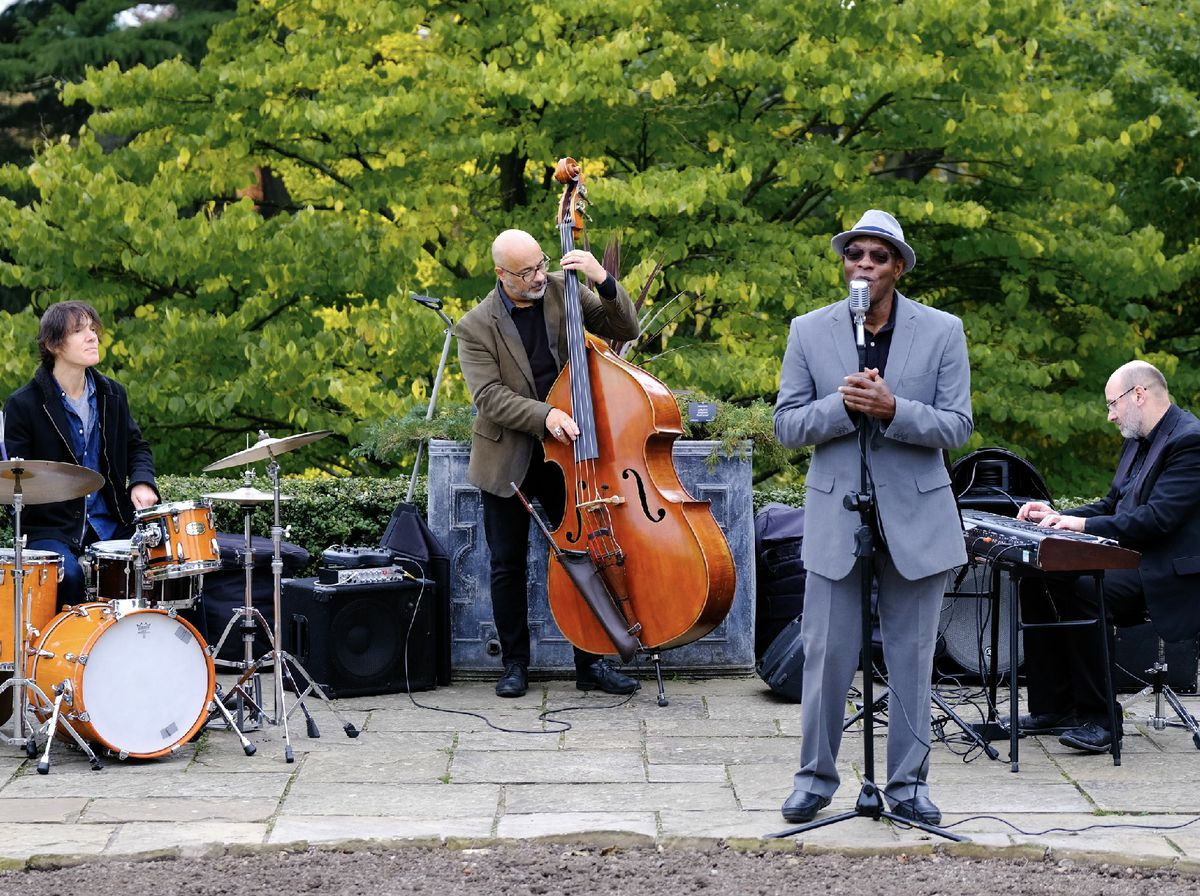 Roy Forbes performing at the Botanical Gardens in Birmingham at the Birmingham and Sandwell Jazz Festival. Picture by Ash Kahn.