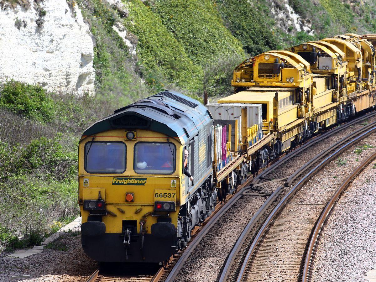 A freight train