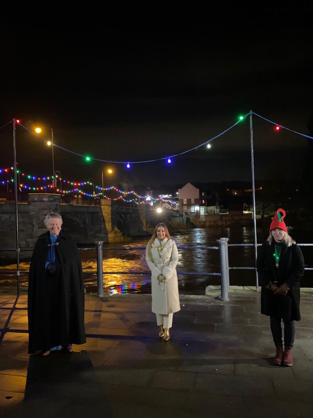 Rev Simon Cawdell, mayor Kirstie Hurst-Knight and deputy mayor Sarah Barlow