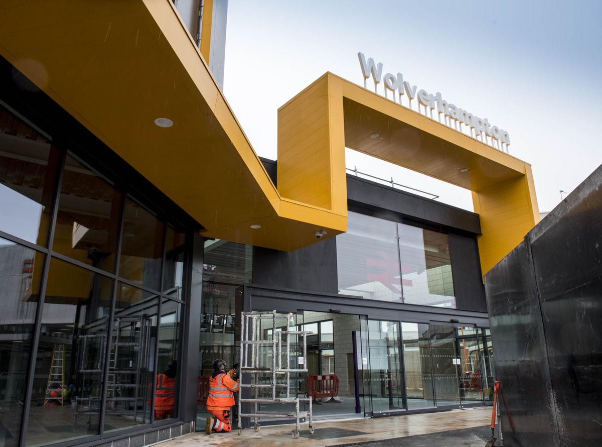 Phase one of the new Wolverhampton railway station as final preparations are made for opening