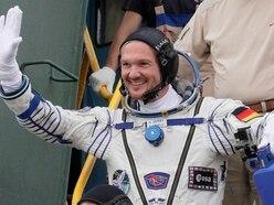 German astronaut drops in on Kraftwerk gig