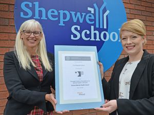 The Shepwell Short Stay School in Willenhall has been awarded a Silver standard for its outstanding mental health and wellbeing provision. Pictured left, deputy head Lisa Southall and Tanya Birch