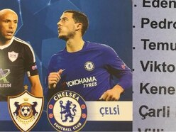 Qarabag's matchday programme put an interesting spin on several Chelsea players' names