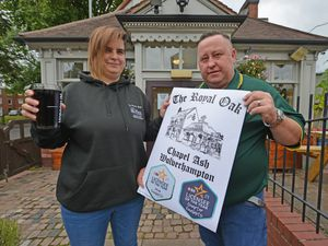 Emma and Terry Cole from the Royal Oak in Wolverhampton