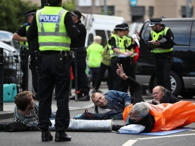 Arrests made as climate change campaigners bring protests to Edinburgh