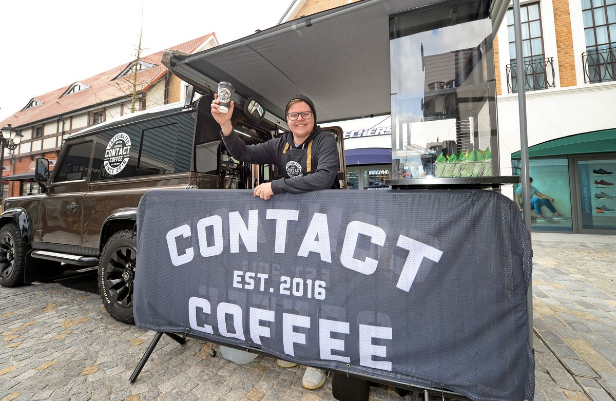 Dan Hall of Cannock company Contact Coffee Co., one of the businesses opening in McArthurGlen