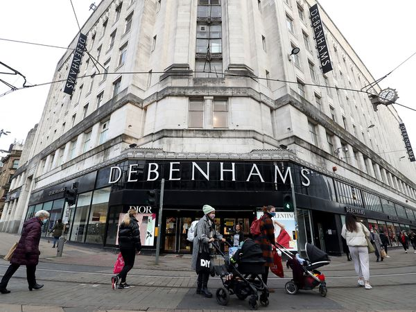 The outside of a Debenhams store