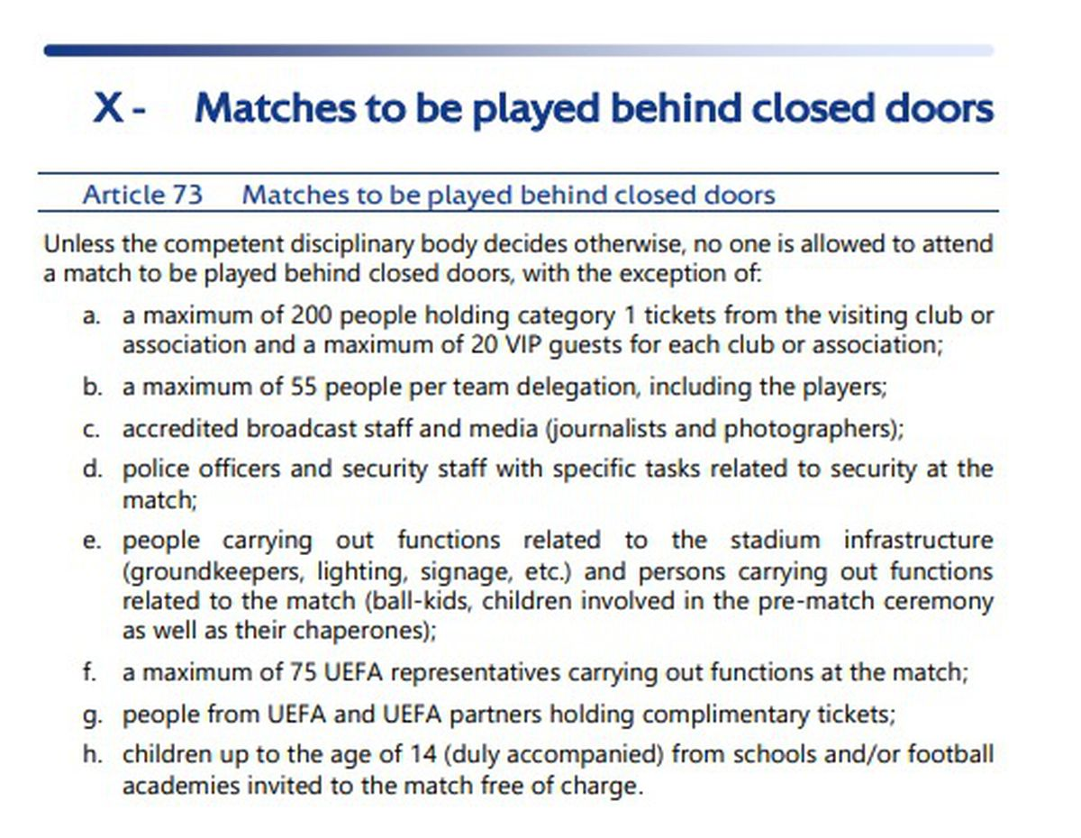 The Uefa rules sent to the Express & Star