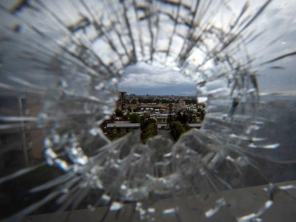 Broken glass in Mekele