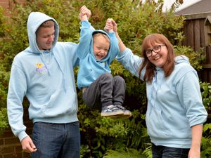 Pamela Harvey, right, will lead the 20-mile walk in memory of her son Louis