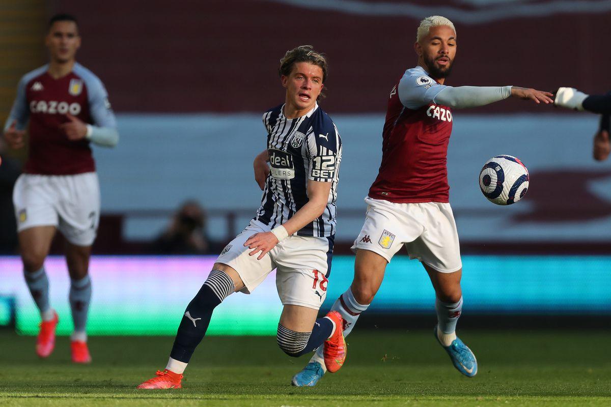 Conor Gallagher of West Bromwich Albion and Douglas Luiz of Aston Villa (AMA)