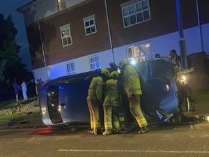 The scene of the crash. Photo: Keiron Watson.