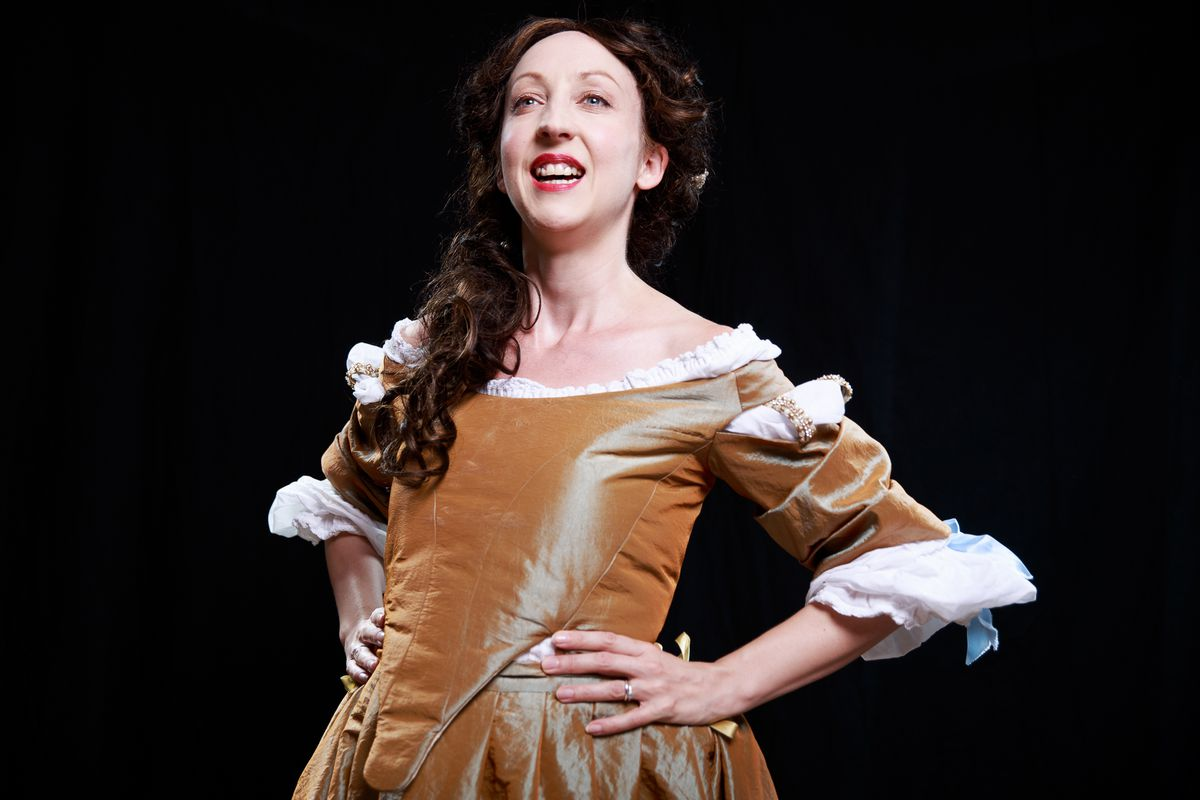 Claire Louise Amias as Aphra Behn