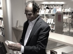 This father returned to the bookshop where he learned English to buy a copy of his son's novel